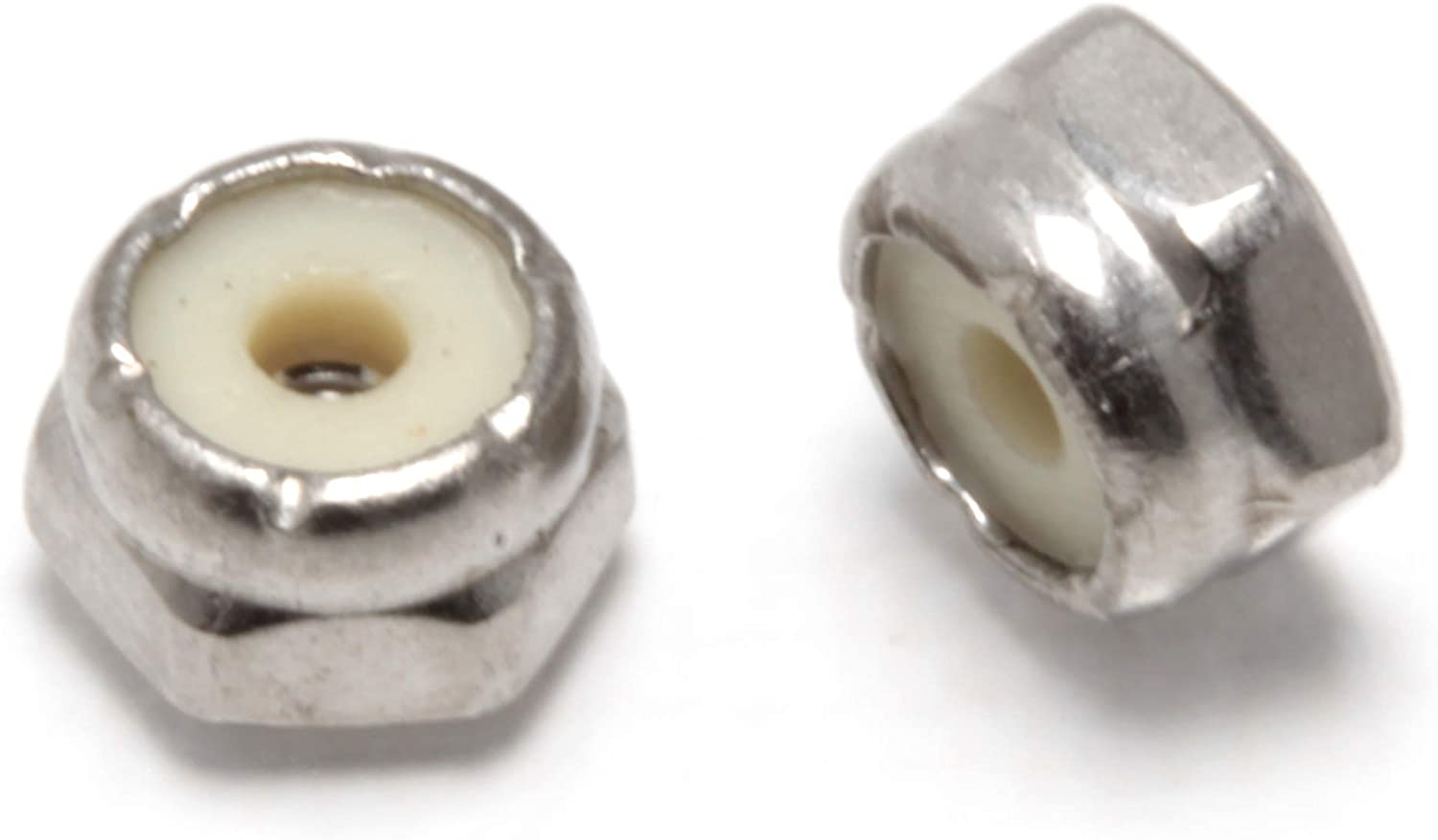 #5-40 Stainless Hex Lock Nut (100 Pack), by Bolt Dropper, 304 (18-8) Stainless Steel Lock Nuts 61Agt-qiP-L