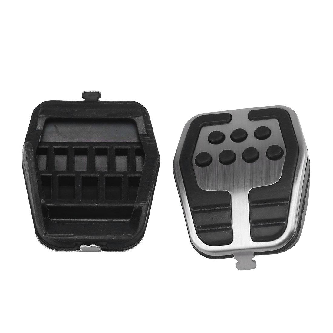 Race Style rutsch Gummi leicht und robust Pedal Cover suparee Auto Pedal Pad Cover Accelerator Brake Clutch Edelstahl passgenau