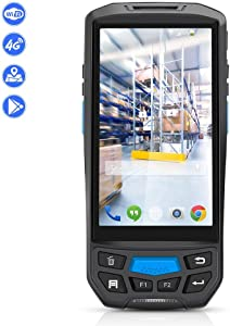 Android Barcode Scanner MUNBYN Rugged Handheld Mobile Terminal with 1D Honeywell Laser Reader, Touch Screen, Camera, Wireless 4G WiFi GPS BT for Delivery Shipping Warehouse Retail Inventory Management