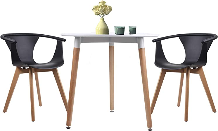 Joolihome Set di tavolo da pranzo e sedie, tavolo rotondo