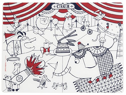 modern-twist Kids Mark-Mat Silicone Coloring Placemat, Circus - Circus Placemat