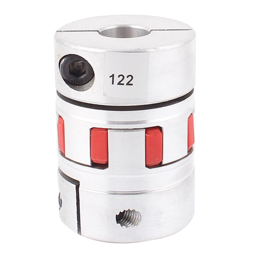 19mm x 19mm Flexible Stepper Motor Plum Coupling D55L78 Aluminum Alloy