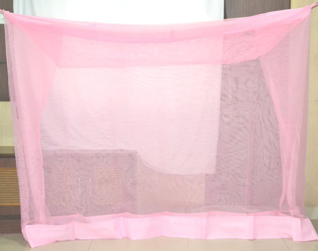 Superior Luxor Quality Mosquito Net For Double Bed (Pink, 6 x 6.5 Ft) product image