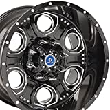 20x12 4Play Revolver Wheels Fit 8-Lug Ford Trucks and SUVs - Black w/Mach'd Face Rims - SET