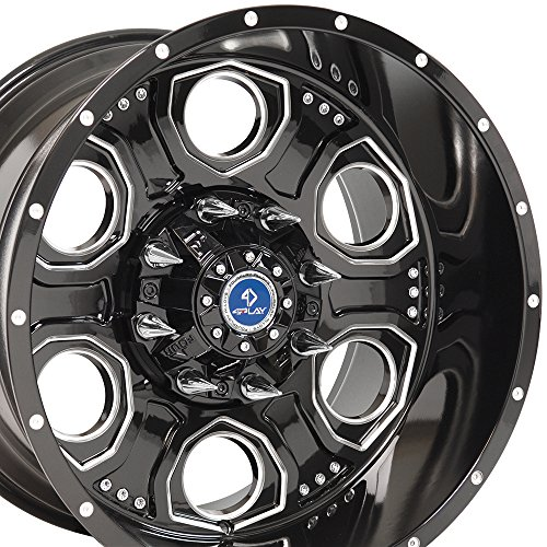 ford 8 lug black rims - 4