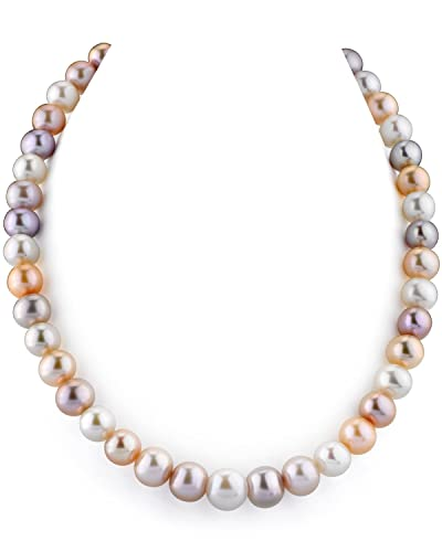 8-9MM Natural Multicolor Freshwater Cultured Pearl Necklace Earring Jewelry Set