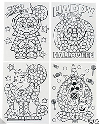 Paper Halloween Dot Activity Sheets (2 Dozen (Halloween Dot To Dot Sheets)