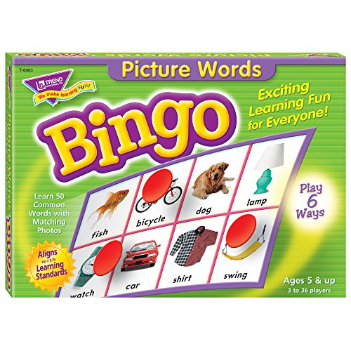 Picture Words Bingo Game -