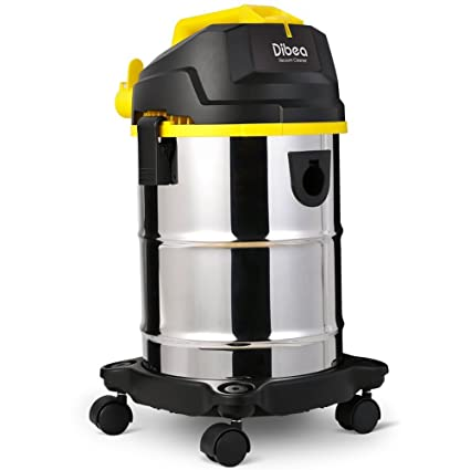 Charmant Dibea 5 Gallon, 4.5 Peak HP Stainless Steel Wet Dry Floor Vacuum Cleaner  With Detachable