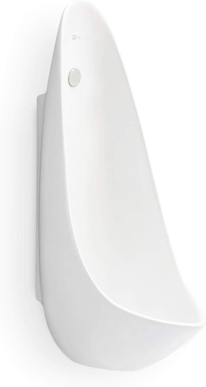 Modern Avant-Garde One Piece Narrow Design Wall-Mounted Ceramic Urinal (15L x 11W x 29H Inches)