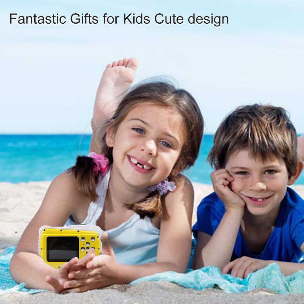 Smyidel Waterproof Mini Kid Camera High Definition 12MP HD 3M Underwater Swimming Digital Camera Camcorder 2.0 Inch LCD Display (Yellow) by Smyidel (Image #8)
