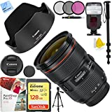 Canon EF 24-70mm f/2.8L II USM Lens with Sandisk 128GB SDXC Memory Card Plus 82mm Accessories Bundle