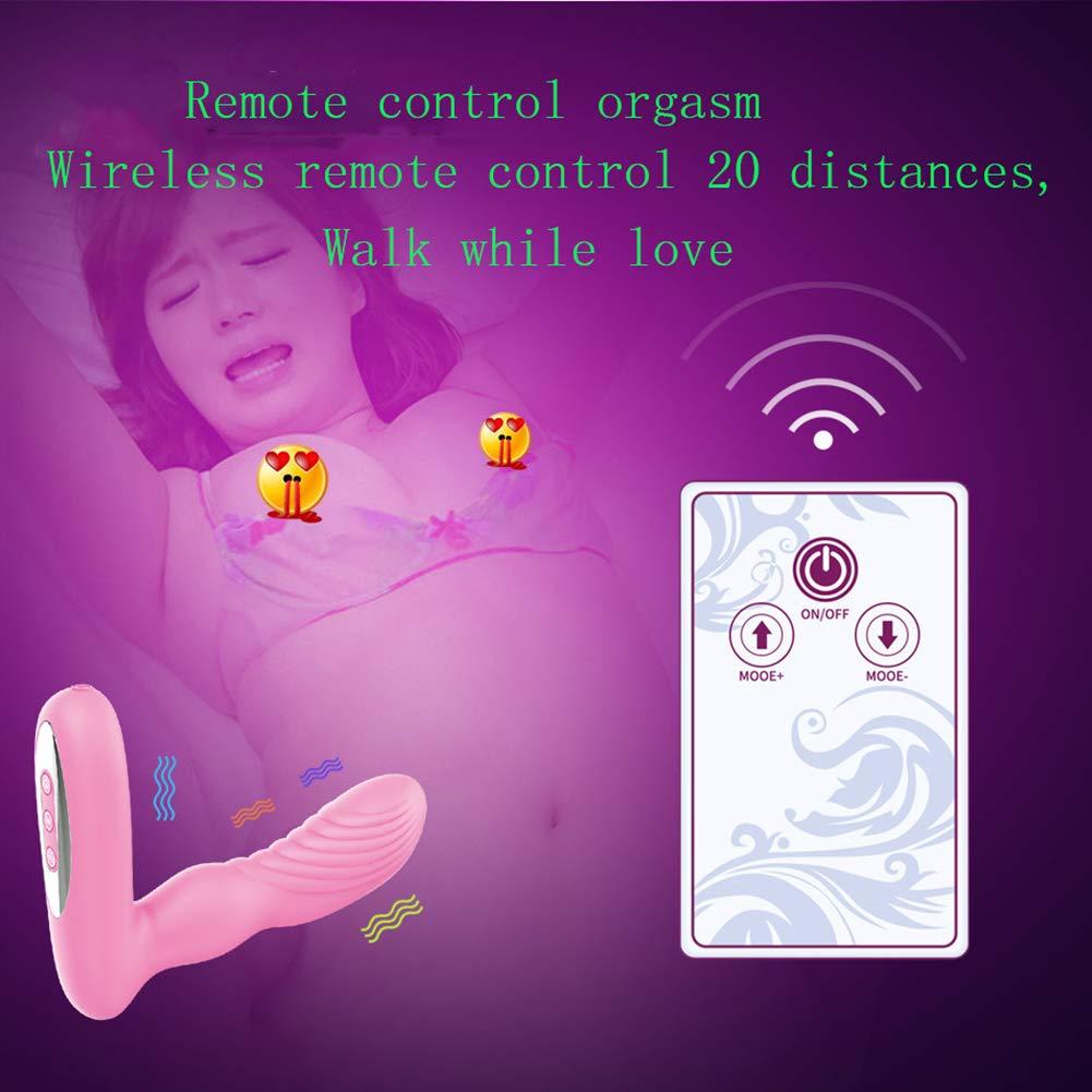FHTD Simulación Pene 12 Vibrador Dedo Masaje 12 Pene Velocidades Vibración Remota A Distancia,Rosered 5b1d45
