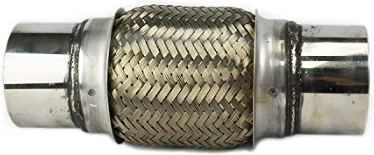 "Exhaust Flex Pipe 3/"" x 6/"" Heavy Duty Stainless Steel Length 10/""OL RK7550"