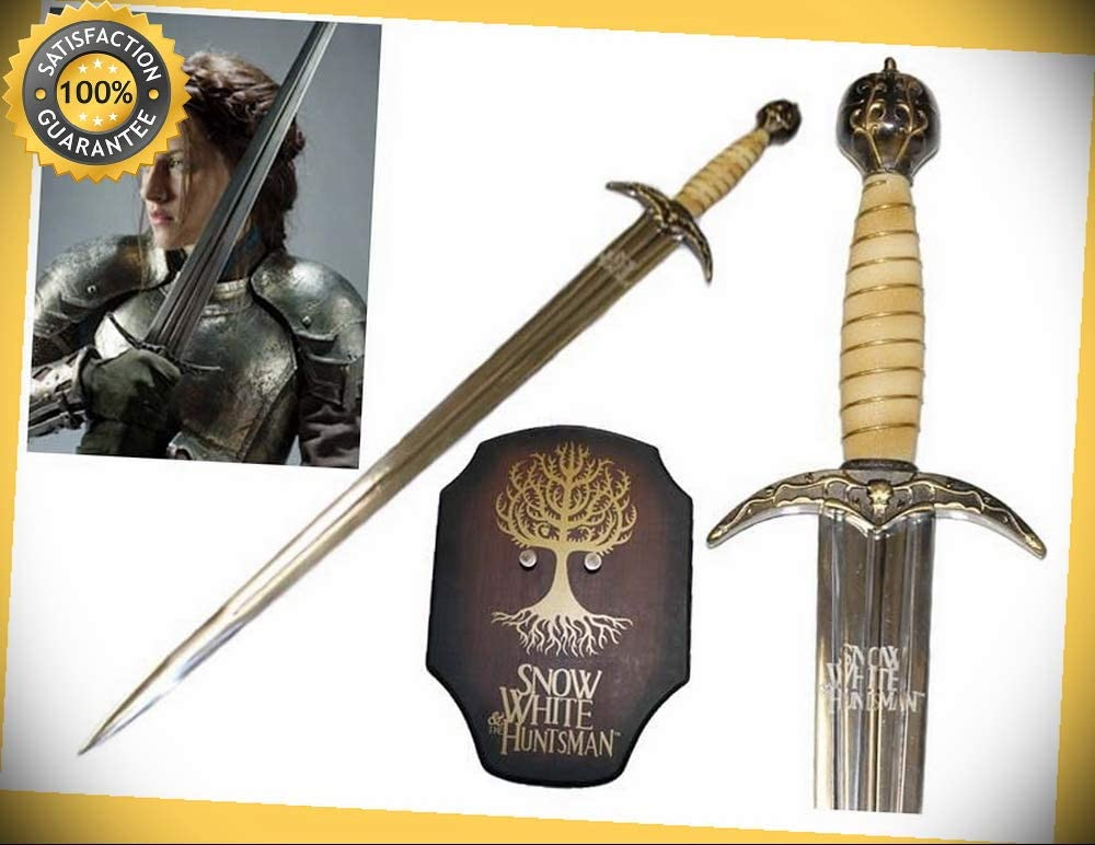 Official License Snow White and the Huntsman Sword w// Wall Plaque