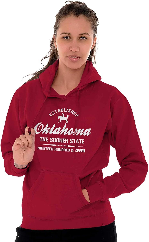 Oklahoma United States America Patriotic OK Zipper Sweat Shirt Zip Sweatshirt