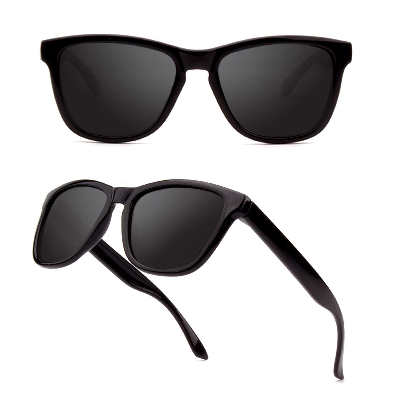 GQUEEN Occhiali da Sole Polarizzati da Uomo e Donna Unisex Classici Occhiali Retr/ò MS07