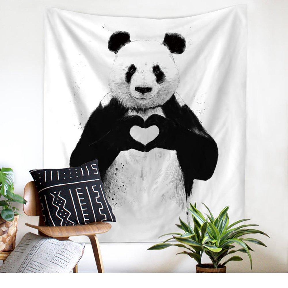 Impresión de la panda Amor pared muestra de tapiz pared Alfombras ...