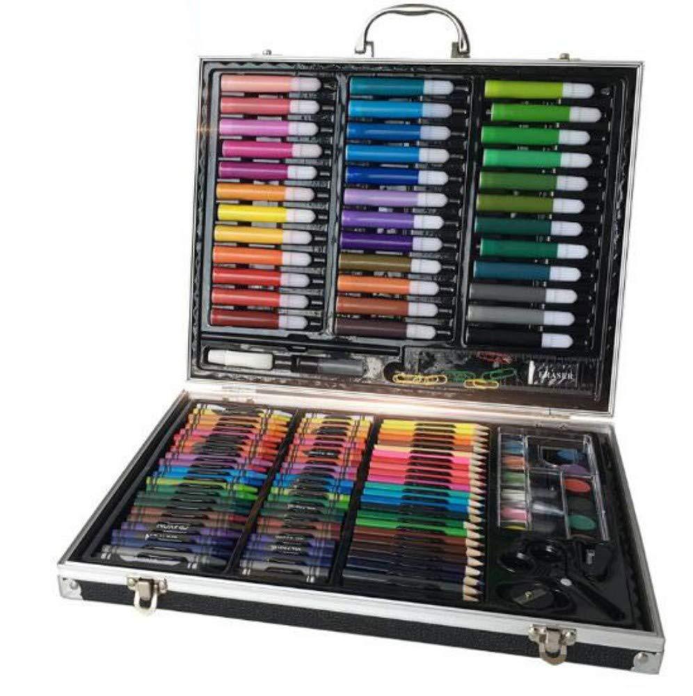 HQYDBB Kids Premium Art Set, 150 Set di pennelli per Bambini, Pennarello per Acquerello, matite Coloreate per Scuola Materna