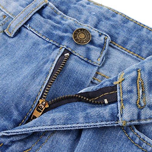 Distrutto Blesiya Jean B Edges Womens Shorts Distressed Boyfriend Denim Faded Foro Azzurro Raw 0rdrpqv