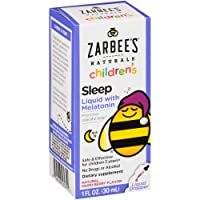 Zarbee's Naturals Children's Sleep Liquid with Melatonin Supplement, Natural Berry...
