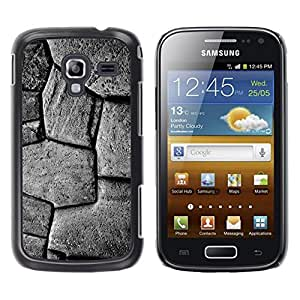 LECELL--Funda protectora / Cubierta / Piel For Samsung Galaxy Ace 2 I8160 Ace II X S7560M -- Pattern Stone Building Black White --