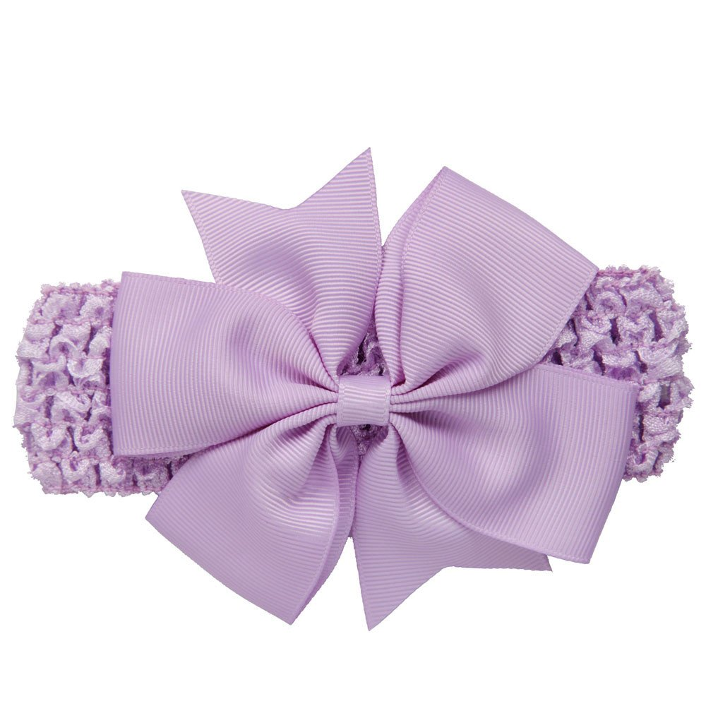 Baby Girls Ribbon Headbands Newborn Toddler Girls Bow Knotted Turban Hair Accessories (Purple)