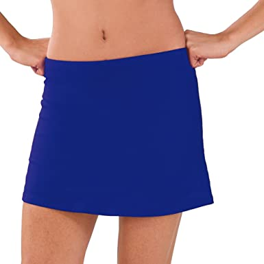 Pizzazz Women Royal Blue Victory V-Notch Skirt Boys Cut Briefs Adult Medium  at Amazon Women's Clothing store: Athletic Skorts