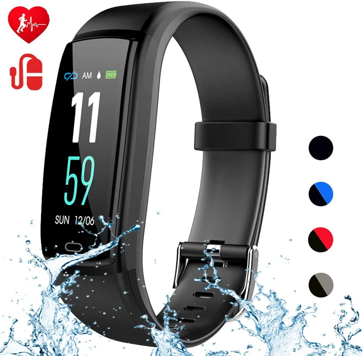 Mgaolo Fitness Tracker,Activity Health Tracker Waterproof Smart Watch Wristband with Blood Pressure Heart Rate Sleep Monitor
