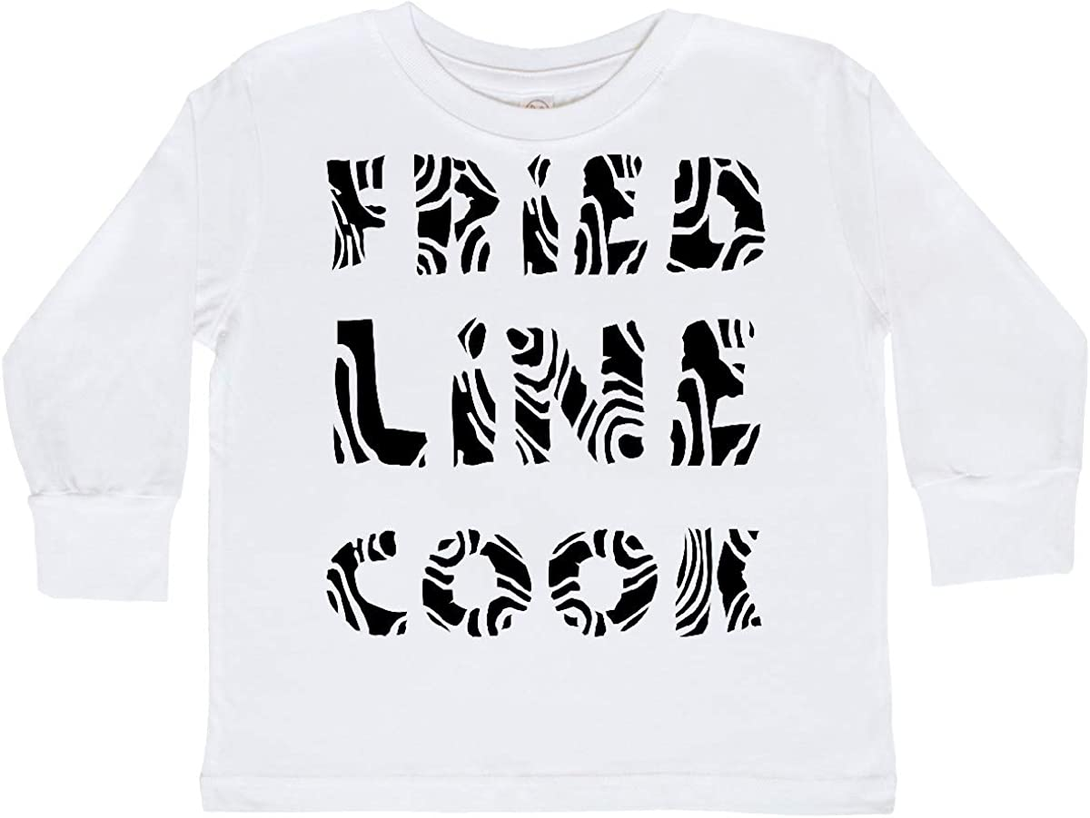 inktastic Fried Line Cook Toddler Long Sleeve T-Shirt