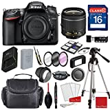 Nikon D7200 DX-format Digital SLR w/AF-P DX NIKKOR 18-55mm f/3.5-5.6G VR Lens, Professional Accessory Bundle (17 Items)