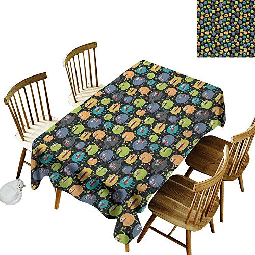 kangkaishi Alien 3D Printed Long Tablecloth Desktop Protection