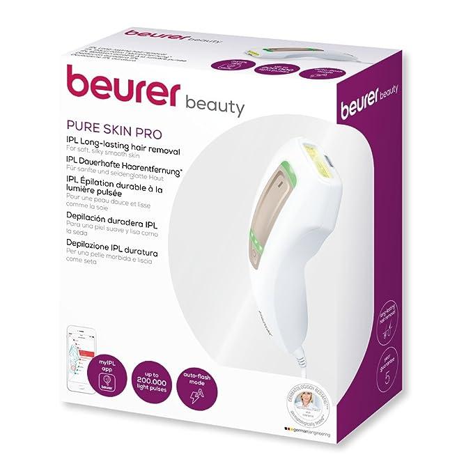 Beurer IPLl5500 - Depiladora de luz pulsada compacta Pure ...