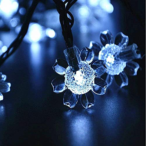 WONFAST Solar Sunflower Lights, Waterproof 21ft 50LED Sunflowers Solar Fairy String Lights for Indoor Outdoor Christmas Wedding Party Garden Holiday Landscape Lighting Decoration White-1