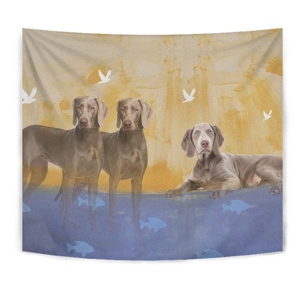 Amazing Weimaraner Dog Print Tapestry by Paws With Attitude