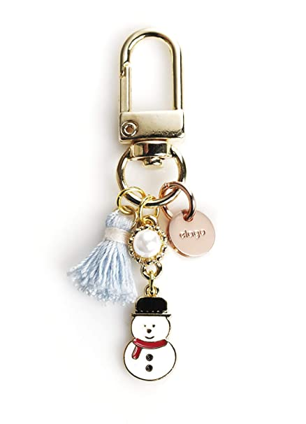 elago AirPods Keyring [Snowman 2] - Charm for AirPods, Handbag, Tote, Purse, Backpack, Bag, Car