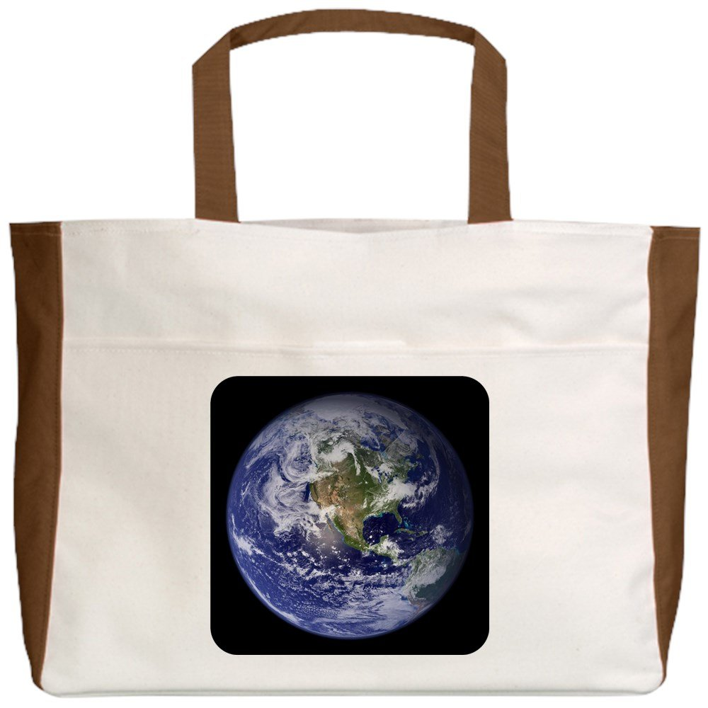 Planet Earth The World 2-Sided Royal Lion Beach Tote