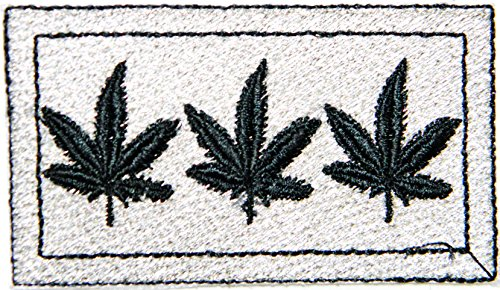 Weed Marijuana Pot Leaf Rasta Rastafari Jamaica Africa Reggae Logo Jacket T shirt Patch Sew Iron on Embroidered Badge Sign Costume (Joint And Lighter Costumes)