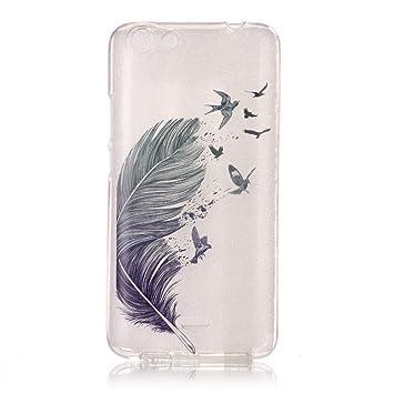 case cover para Wiko Rainbow Jam 3G,Crisant plumas de aves ...