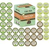 Cha4TEA 36-Count K Cups Assorted Green Tea for Keurig K-Cup Brewers (Matcha Green Tea, Green Tea, Jasmine Green Tea, Oolong Green Tea)