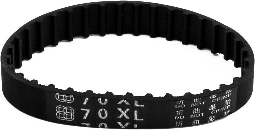 uxcell 70XL 35 Teeth 10mm x 5.08mm Rubber Timing Geared Belt for Stepper Motor Black