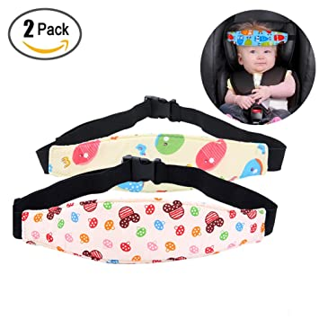 Amazon.com : 2 Pack Baby Head Support Safety Car Seat Neck Relief ...
