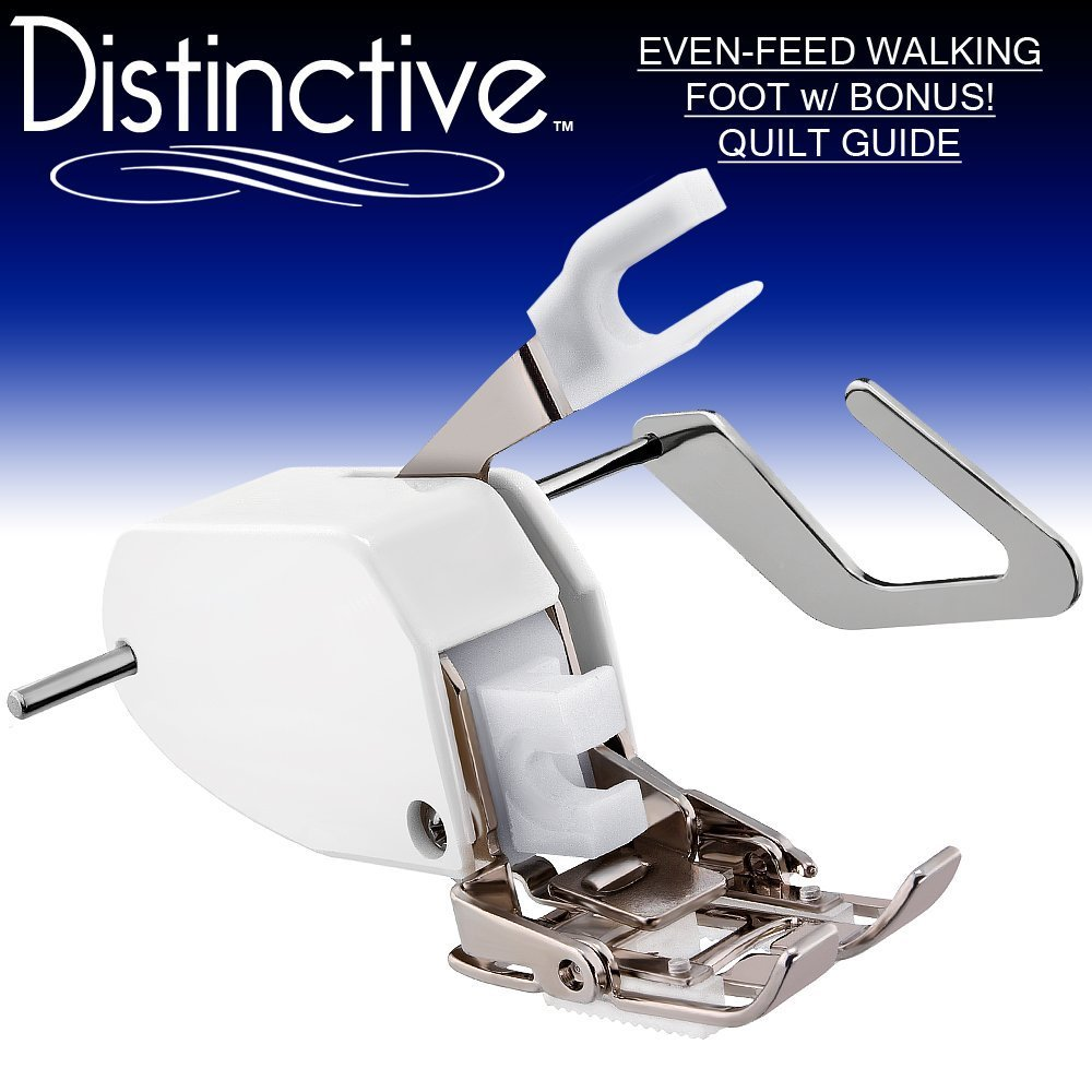 Distinctive Premium Even Feed Walking Sewing Machine Presser Foot with BONUS! Quilt Guide by Distinctive