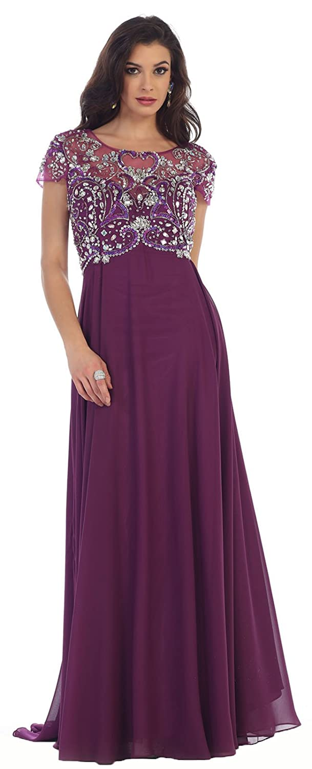 May Queen MQ1100 Formal Mother of The Bride Evening Dress at Amazon ...