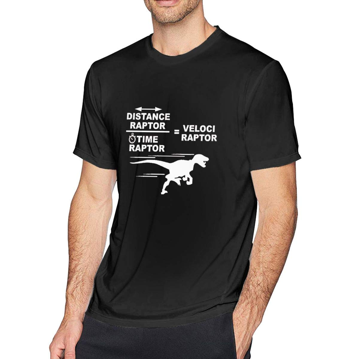 Joy007 S Tshirt Crew Neck Distance Raptor Divided By Time Raptor Equals Velociraptor