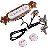 1 set pre-wired 6-string single coil pickup cigar box guitar soundhole  pickup