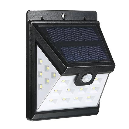 OWSOO Luces Solares Sensor Luces de Pared 22LED Impermeable Sensor de Movimiento PIR Ahorro de Energía