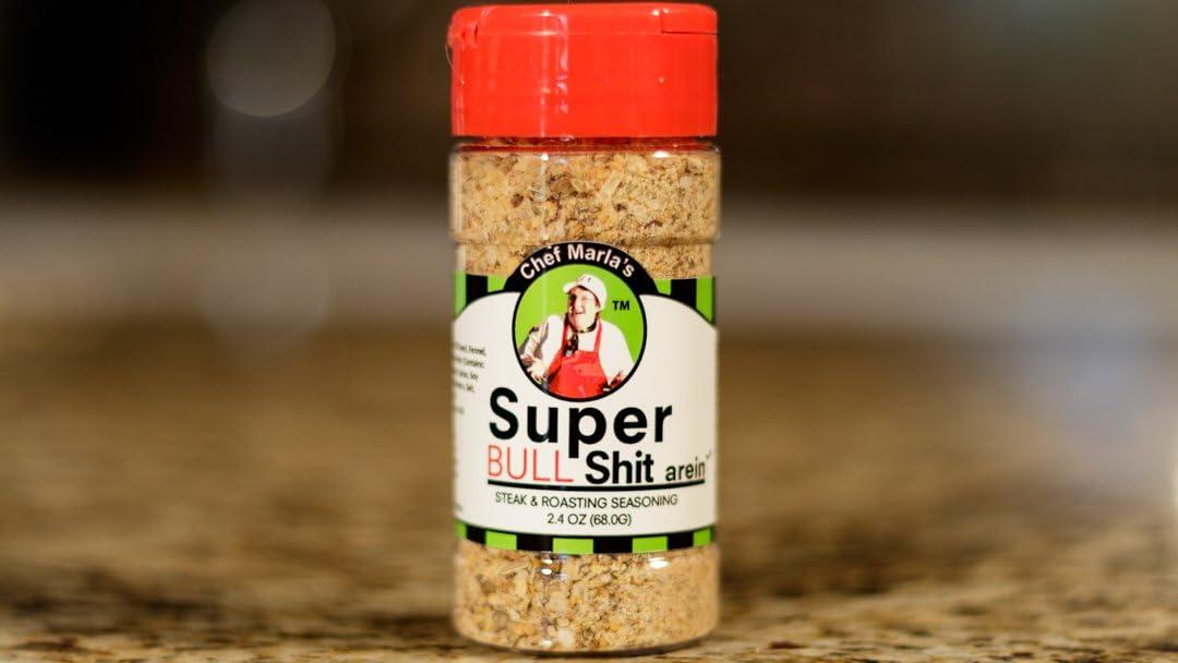 Chef Marla's Super Shit-arein, 2.4 Ounce, Bull Shit, Steak & Roasting Seasoning