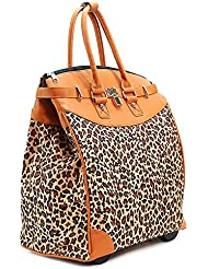 ALFA TRAVELGEAR INC Baby Leopard Print Foldable Rolling Travel Tote