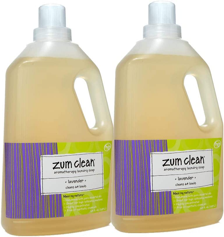 Zum Clean Aromatherapy Laundry Soap Lavender -- 64 fl oz - 2pc